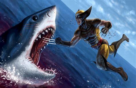 je crois  wolverine na pas aime les dents de la mer