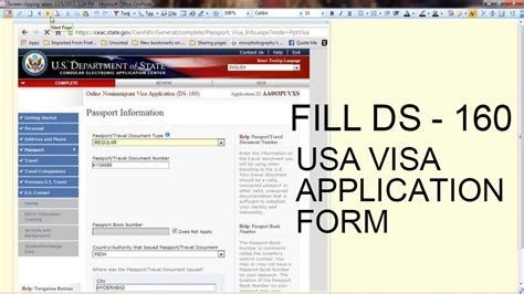 how to fill out a us visa application form cheap flights