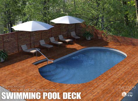Swimming Pool Deck 3d Models Lilflame