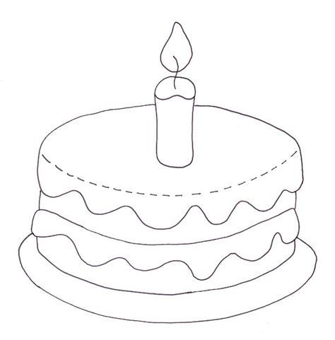 birthday cake coloring page wee folk art