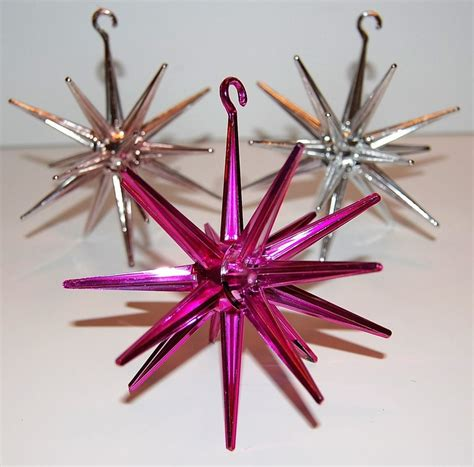 sputnik christmas ornaments vintage plastic sputnik ornaments we had these on our tree when i was atomic age