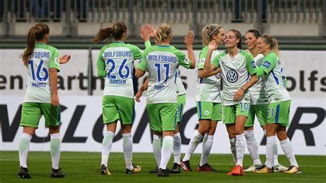 vfl wolfsburg frauen 1 bundesliga frauen champions league die vfl frauen feiern sch 252 tzenfest 671   regular 16 9
