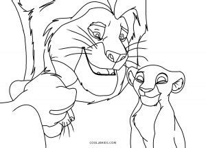 printable lion king coloring pages  kids
