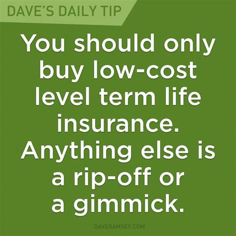 """This policy is usually for a specific amount and lasts for a specified period of time. """"You should only buy low-cost level term life insurance. Anything else is a rip-off or a gimmick ..."""