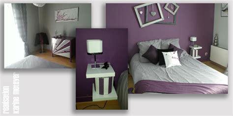 chambre grise et prune couleur chambre gris et mauve chaios com