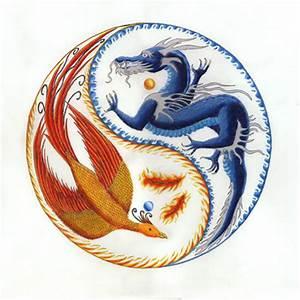 """Phoenix Dragon Yin Yang. """"When the dragon roars the ..."""