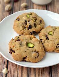 Cranberry Pistachio White Chocolate Chip Cookies