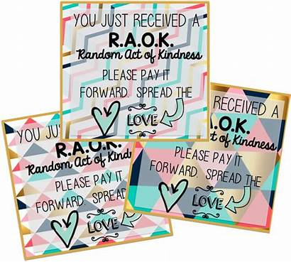 Random Kindness Cards Acts Act Morale Principal
