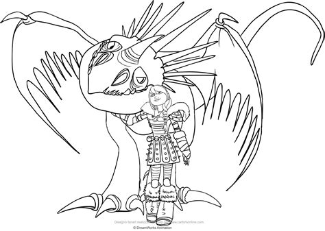 Stormfly Dragon Coloring Pages Pictures To Pin On