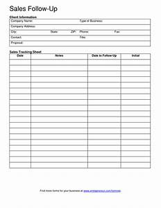 free client contact sheet sales follow up template With follow up plan template