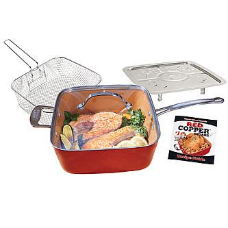 tv red copper  pc  square pan set