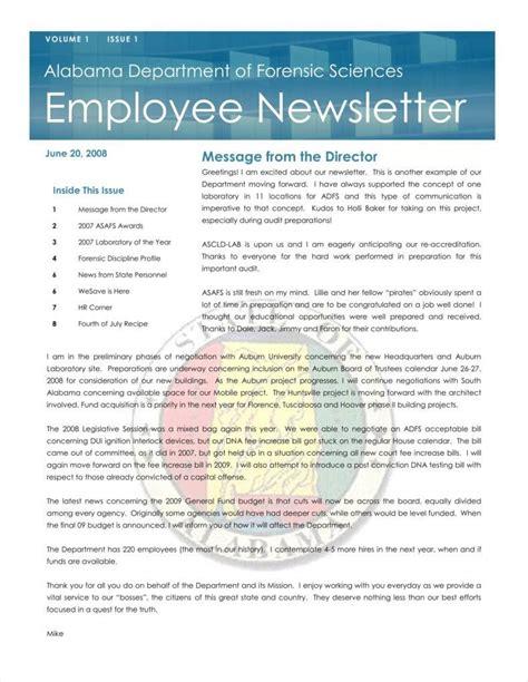 sample employee newsletter templates   psd