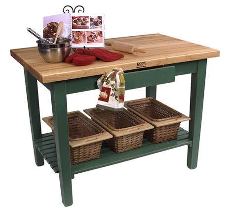 "John Boos Classic Country Work Table Kitchen Island 60"" X"