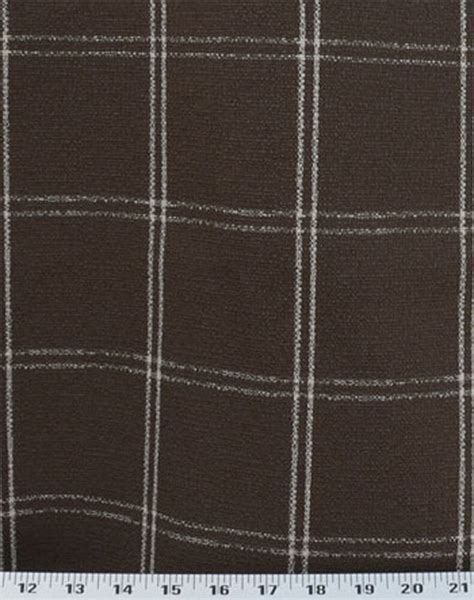 plaid drapery fabric drapery upholstery fabric nubby rustic textured box plaid