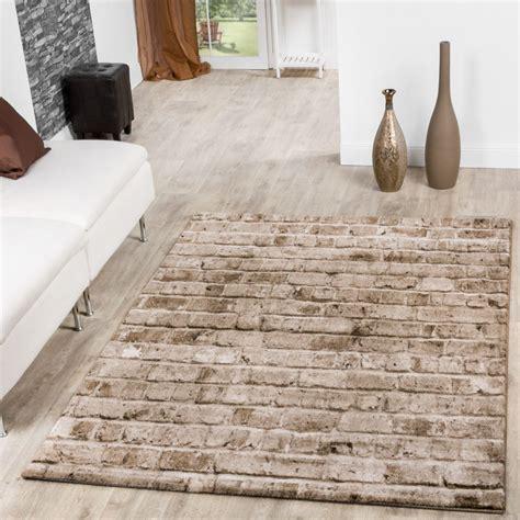 teppich torino stone optik grau wohnzimmer teppich braun