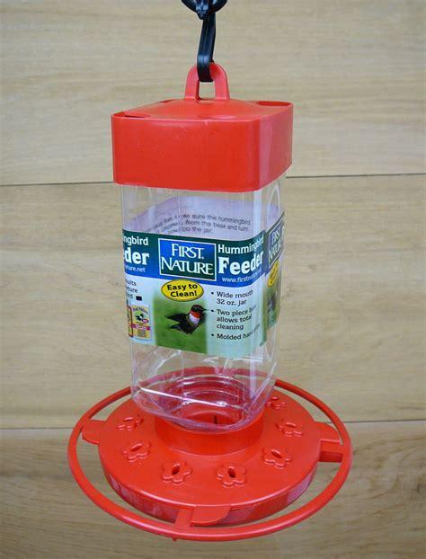 first nature 32oz red plastic hummingbird feeder 3055