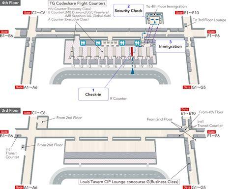Bangkok (suvarnabhumi) International Airport/terminal Map