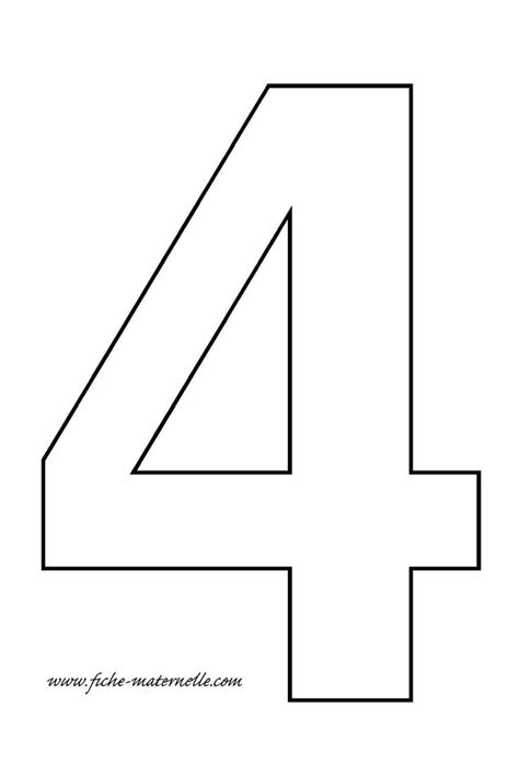 Number 4 Cake Template by Crafts Actvities And Worksheets For Preschool Toddler And