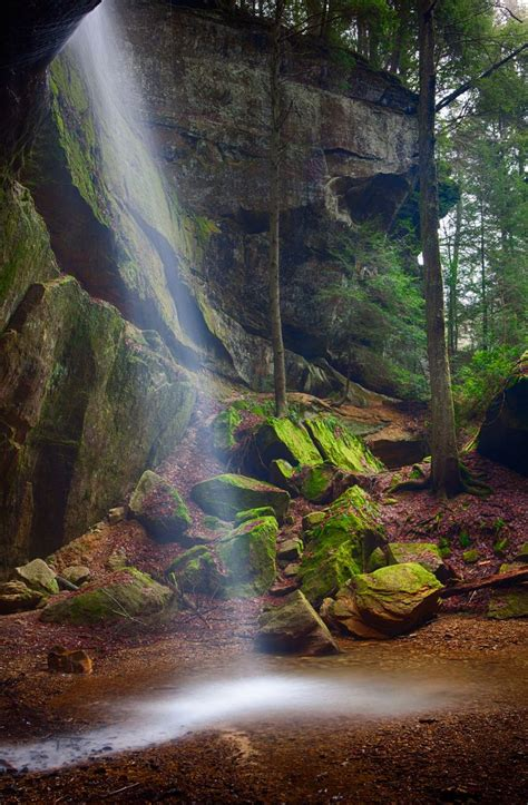 Kimble insurance agency truenorth company. Flowing Light by Jim Crotty - Waterfall in recess cave ...