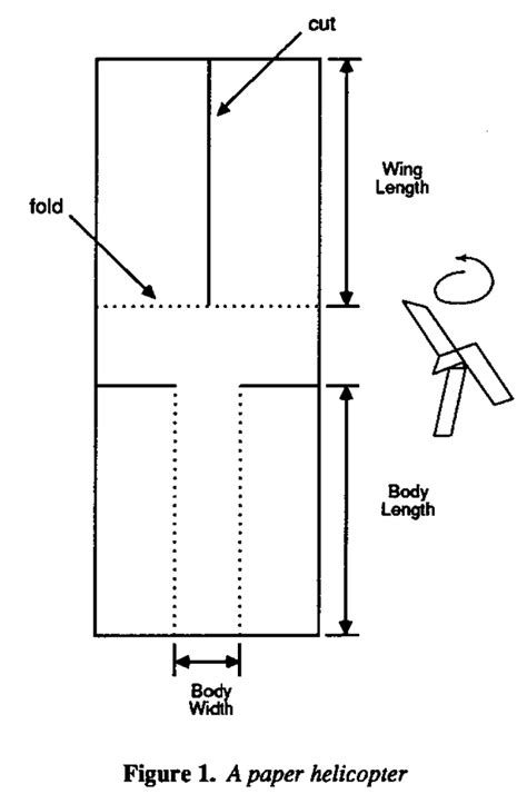 paper helicopter template teaching engineers experimental design with a paper helicopter