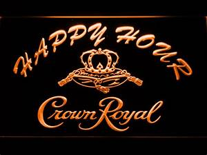 Crown Royal Happy Hour LED Neon Sign