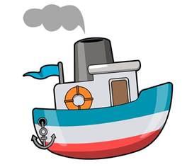 Cartoon Boat Clip Art Free
