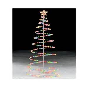 6 multicolor lighted spiral christmas tree an occasion with kmart