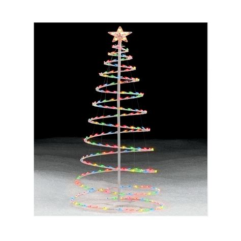 trim a home 174 6 multicolor lighted spiral tree
