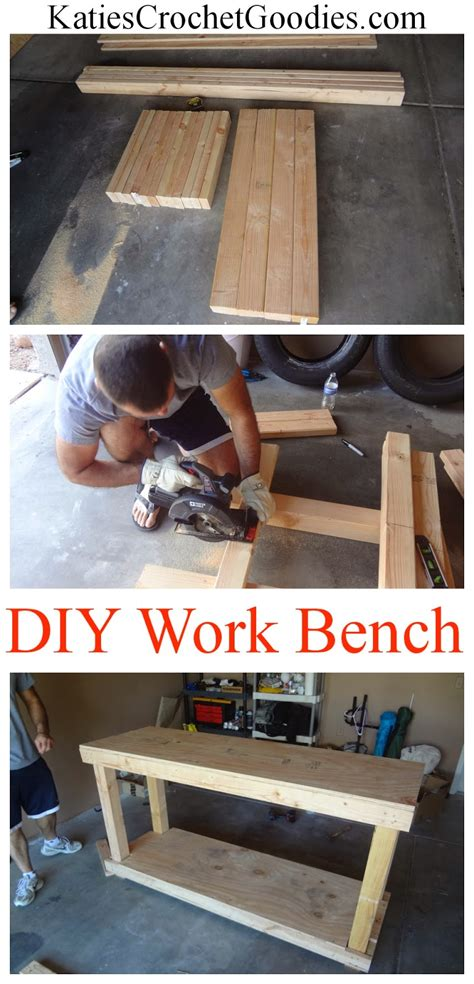 diy work bench tutorial katies crochet goodies