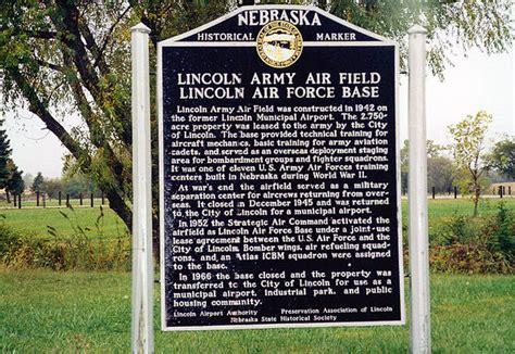 nebraska historical marker lincoln army air field