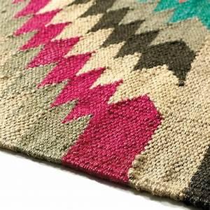 tapis tresse en laine multicolore 80 x 200 cm acapulco With tapis tressé laine