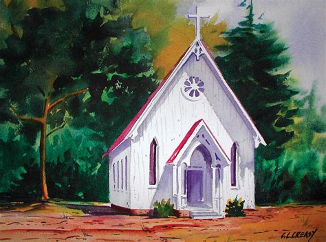 Little Country Church Painting By Chuck Creasy