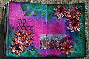 Dylusions Spring Art Journal Page Ranger Ink and