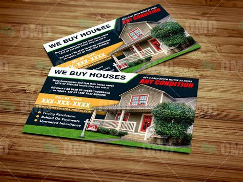 buy houses postcard  real estate lead generator