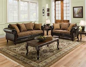 San marino traditional living room set w wood trim for Wood living room set
