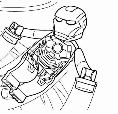 Coloring Superhero Pages Lego Printable Clipartmag
