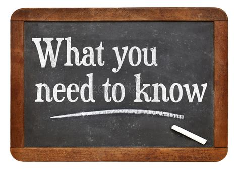 What You Need To Know Stock Image. Image Of Know
