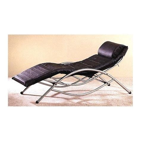 retro 50s black leather leisure recliner