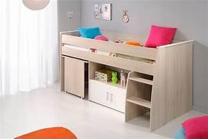 Lit Enfant Combiné : lit combin enfant 90x200 en bois blanc et acacia lc1007 ~ Farleysfitness.com Idées de Décoration