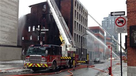 incendie majeur dans un bâtiment patrimonial du quartier un incendie détruit trois immeubles patrimoniaux du vieux