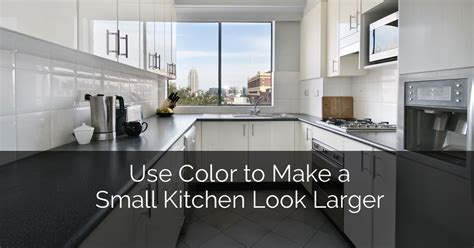 Use Color to Make a Small Kitchen Look Larger   Home