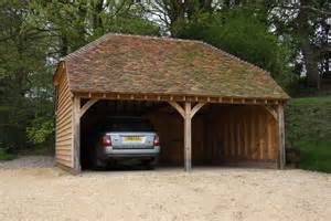 Image of: Green Oak Framed 2 Bay Garage Car Port Bespoak Framing Considerations On Choosing The Safest Carport Designs