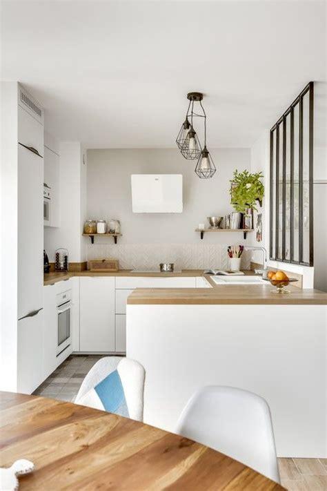 projet cuisine blanche cuisineblanche verriere ouverte