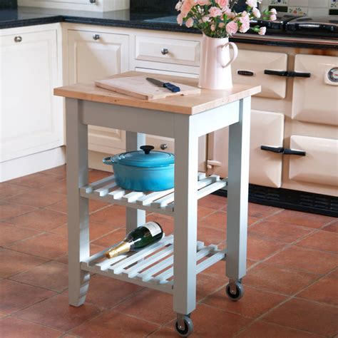 hand painted solid wood butchers block kitchen island