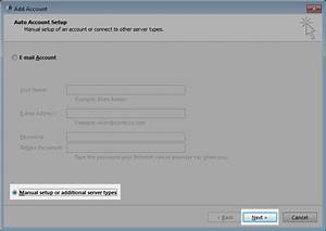 Manual Configuration Guide For Outlook 2013  Exchange 2016