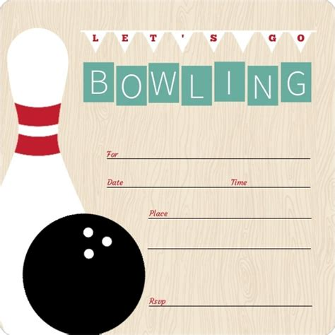 birthday invitation vintage turquoise fill in the blank bowling invitation