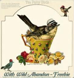 Vintage Tea Party Clip Art Birds