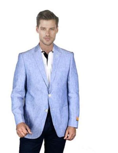 mens light blue blazer sku aa393 mens light sky baby blue linen blazer sport coat j