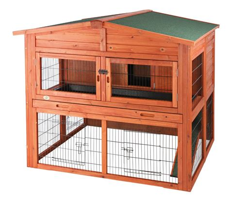 pet rabbit hutch trixie pet rabbit hutch with attic large 62324
