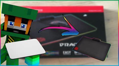 unboxing tapis de souris gamer a led chroma youtube